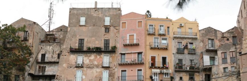 Cagliari, abitazioni nel quartiere di Castello
