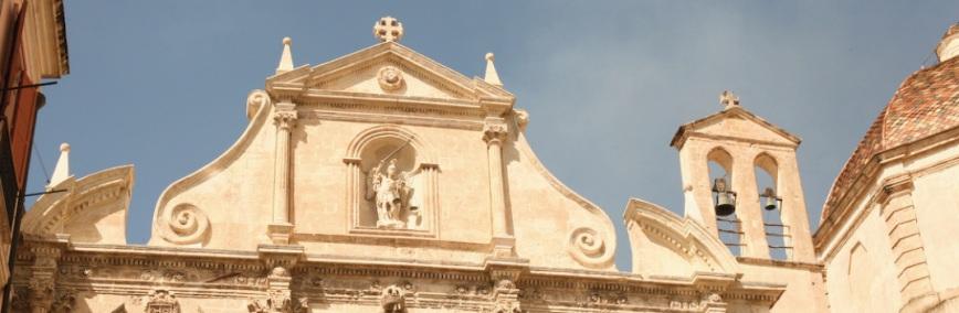Cagliari, Stampace: Facciata della chiesa di San Michele